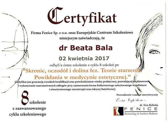 certyfikat skronie